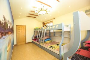 shared space, bunk beds, kids room, bedroom, kids bedroom, organize, yyc